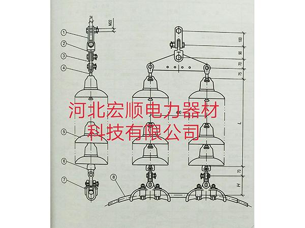 悬垂串组装图